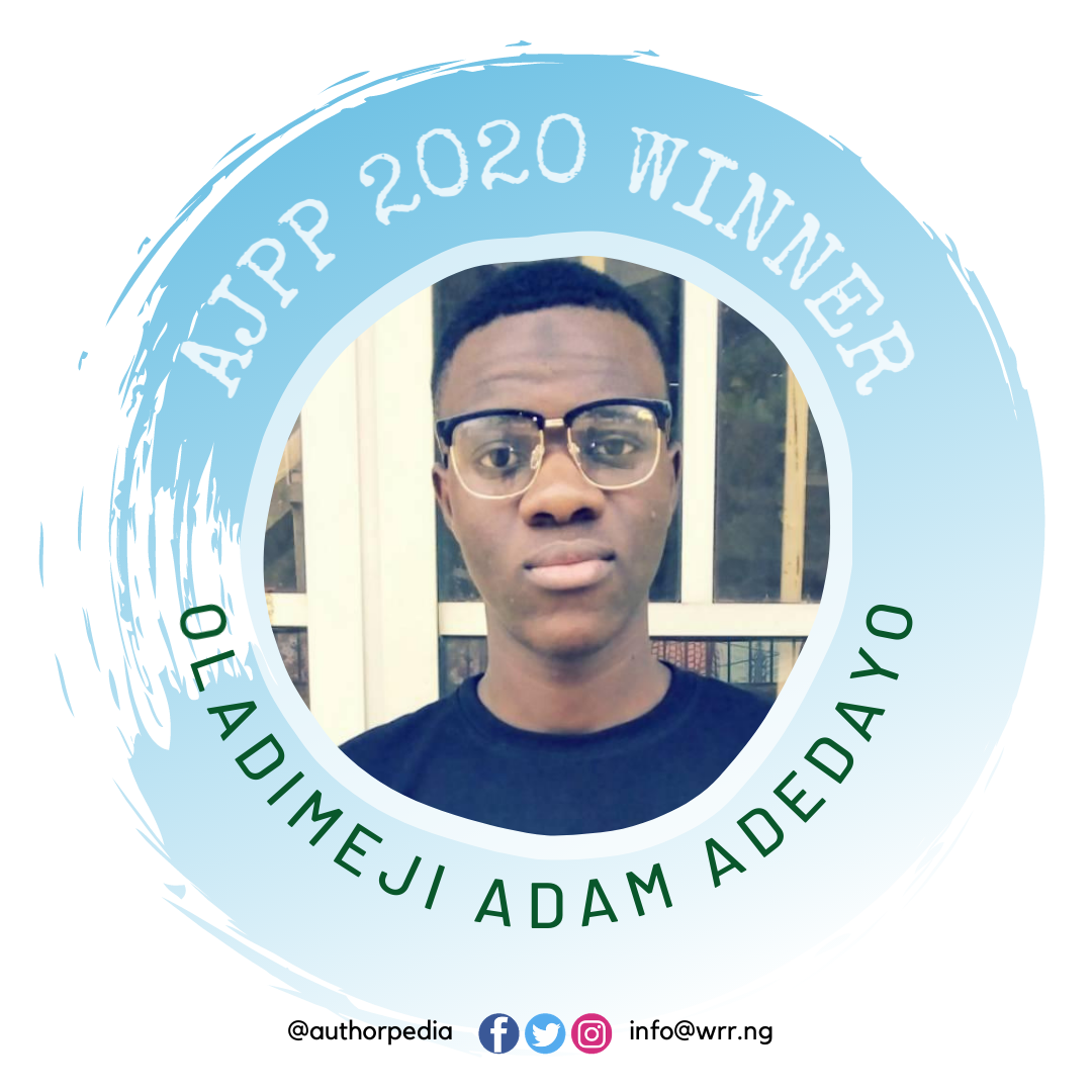 OLADIMEJI ADAM ADEDAYO WINS ALBERT JUNGERS POETRY PRIZE 2020